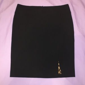 Black sexy express pencil skirt with left slit